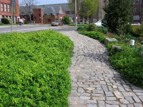 chatham st park stone path